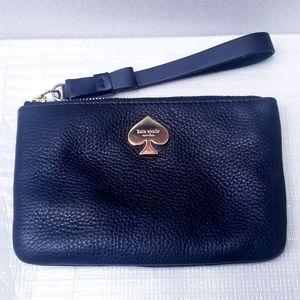 Kate Spade Black Leather Compact Wristlet
